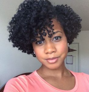Twist Out With Deep Side Part