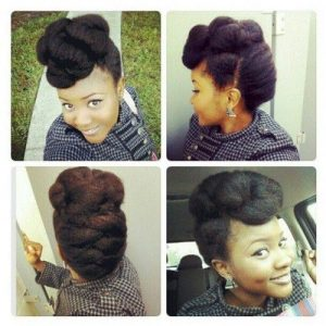 chunky french braided updo