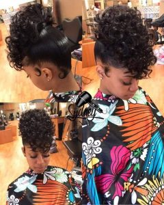remy hair curly updo