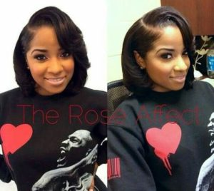 sew in bob with swoop bangs