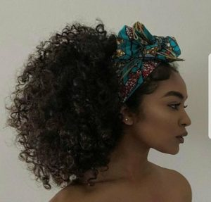 half wig african headband updo