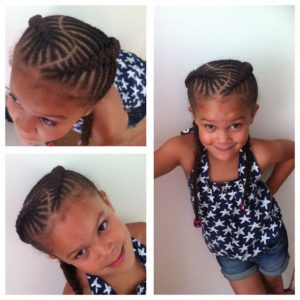 Fishbone Braid Pigtails With Bubbles