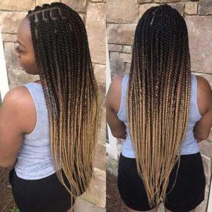 blonde ombre box braids