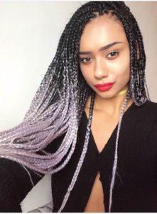 ombre box braids styles
