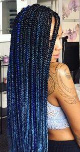 Blue Ombre Box Braids