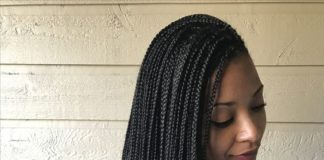 Small Waist Length Box Braids