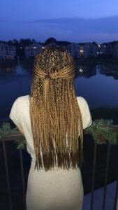 golden brown box braids