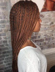 reddish brown box braids