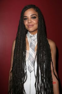 small box braids with hints of blonde