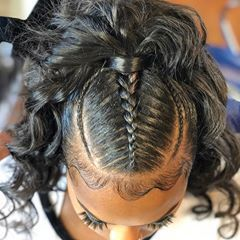 High Ponytail With Braids and Baby Hair