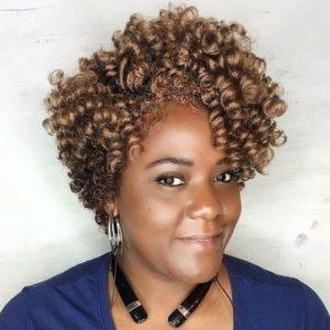 Asymmetrical Crochet Curls