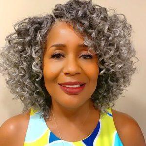 Grey Crochet Curls