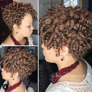 Honey Brown Crochet Curls