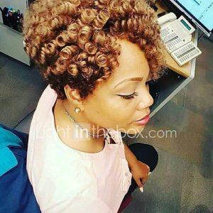 Short Blonde Ombre Crochet Curls