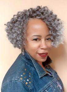 Short Grey Crochet Curls