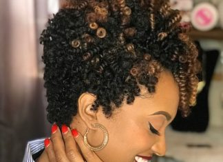 Tapered Crochet Curls With Highlights