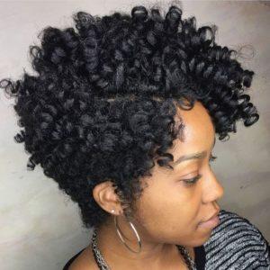 Voluminous Asymmetrical Crochet Curls