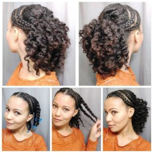 Braid Out Ponytail