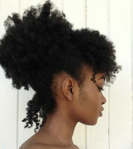 Messy High Puff With Bangs