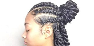 Twist Braids With Bun