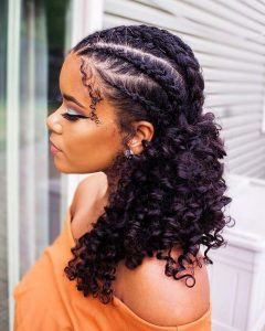 Cornrows With Curls