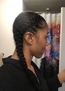 French Braids on Natural Hair