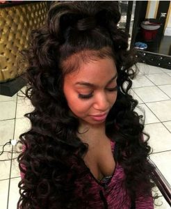 High Ponytail With Body Wave Hair