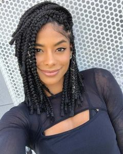 Side Swept Braids on Natural Hair