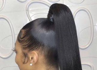 Straight High Ponytail