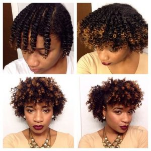 Flat Twist Out on Two Toned Hair