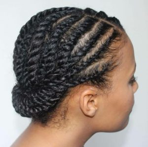 Simple Flat Twist Protective Style