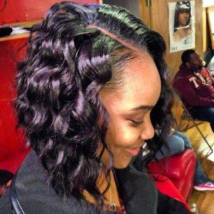 Sew-In Bob With Barrel Curls