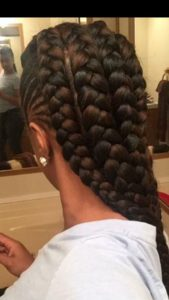 Chunky Mohawk Braids With Cornrows