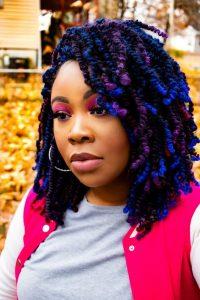 Black Blue and Purple Spring Twists