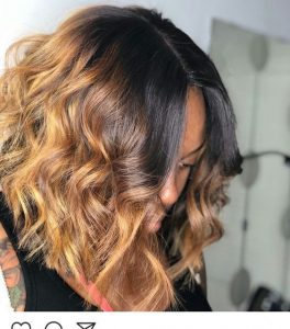 Blonde Ombre Wig With Loose Curls
