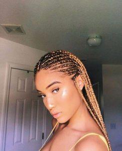 Golden Blonde Fulani Braids