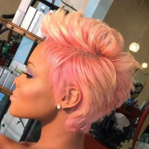 candy pink and blonde 27 piece wig