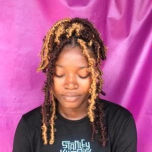 honey and brown butterfly locs