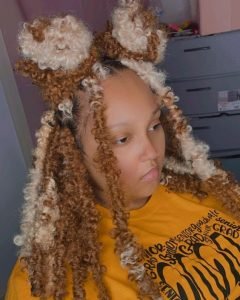 platinum and honey butterfly locs