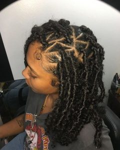 triangle part butterly locs